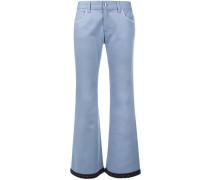 Ausgestellte Jeans mit gehäkeltem Saum - women