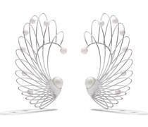 18kt Weißgoldohrring mit Perlen