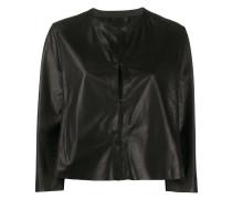 Cropped-Jacke ohne Kragen