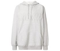 brand embossed hoodie