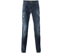 "Jeans mit ""Crown & Bee""-Patch"