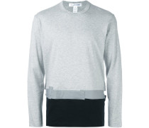 Sweatshirt mit Colour-Block-Optik