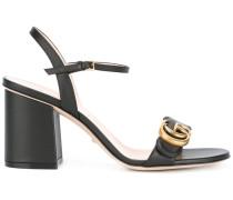 Sandalen mit GG-Logo - women - Kalbsleder/Leder