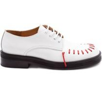 Derby-Schuhe mit Stickerei