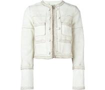 Cropped-Jacke mit geflochtenen Borten