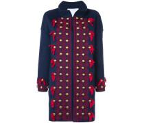 stud and tassel detail coat