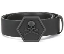 skeleton buckle belt