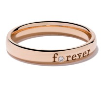 18kt 'Forever' Rotgoldring mit Diamant