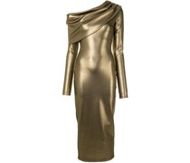 Asymmetrisches Metallic-Kleid