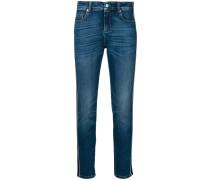 side stripe slim jeans