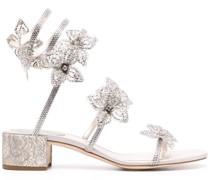 Sandalen mit Blütenapplikation