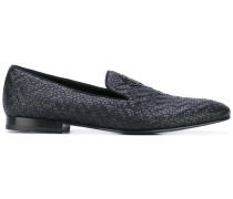 Geflochtene Loafer mit Logo-Applikation - men