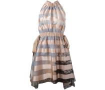 Neckholder-Kleid mit Querstreifen - women