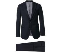 Zweiteiliger Anzug mit steigendem Revers