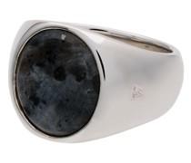 Ring aus Sterlingsilber mit Larvikit