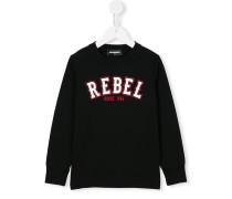 "Sweatshirt mit ""Rebel""-Print"