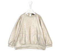 Sweatshirt mit Metallic-Effekt
