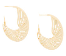White Feather hoop earrings