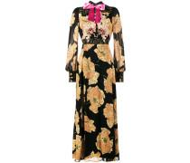 poppy print gown