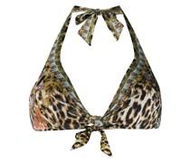 Bikinioberteil mit Leopardenmuster