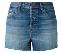 Jeans-Shorts mit Fransen
