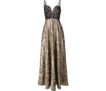 Metallisches Kleid mit semi-transparenten Details