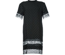 T-Shirt-Kleid mit Spitzeneinsätzen