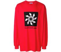 oversized graphic print sweatshirt