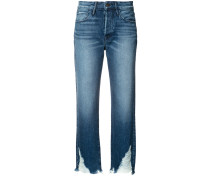 - Cropped-Jeans mit unbearbeitetem Saum - women