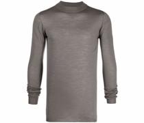 Melierter Pullover mit schmalem Schnitt