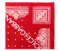 printed logo bandeau scarf