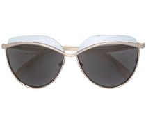 Sonnenbrille mit Metallic-Gestell