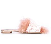 Pantoletten mit Flamingo-Muster