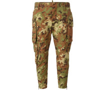 Cropped-Hose mit Camouflage-Print - women