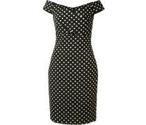 Gepunktetes Kleid mit schulterfreiem Design