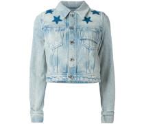 Jeansjacke mit Sternen-Print