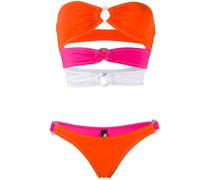 Bikini in Colour-Block-Optik
