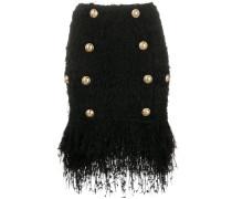 short fringed tweed skirt