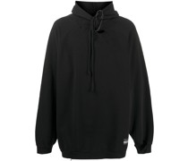 rip-detail hoodie