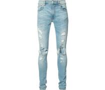 Super-Skinny-Jeans in Distressed-Optik