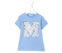 "T-Shirt mit floralem ""M""-Print"