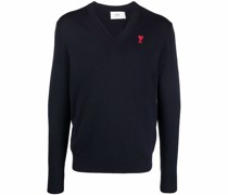 Ami De Coeur Embroidery V Neck Sweater