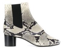 Chelsea-Boots mit Schlangen-Effekt