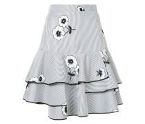 floral striped full skirt