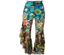 Cropepd-Hose mit Blumenmuster - women