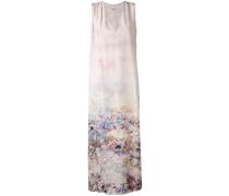 Langes Seidenkleid mit floralem Print - women