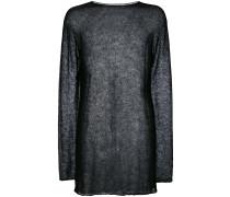 Semi-transparenter Oversized-Pullover