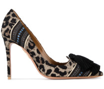 'Love' Pumps mit Leopardenmuster