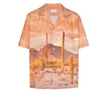 Bowlinghemd mit Kakteen-Print