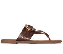 Sandalen in Lederoptik